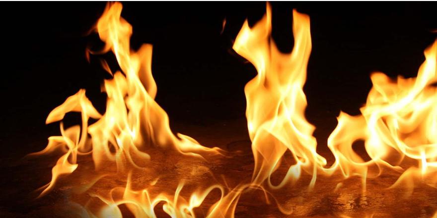 Sanayi sitesindeki deri atölyesinde yangın