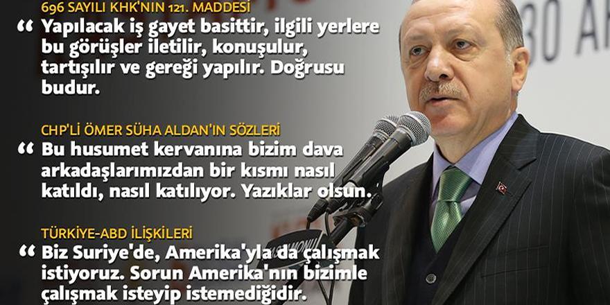 Cumhurbaşkanı Erdoğan: Bu husumet kervanına katılan arkadaşlarımıza yazıklar olsun