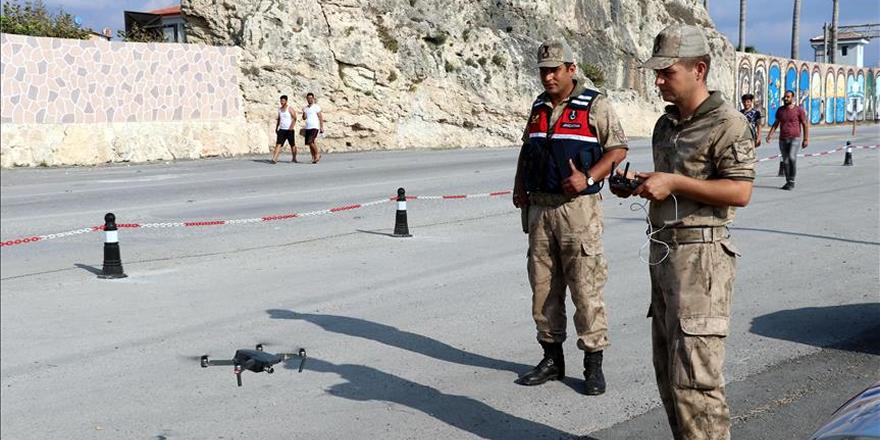 Yoğun trafiğe drone destekli kontrol