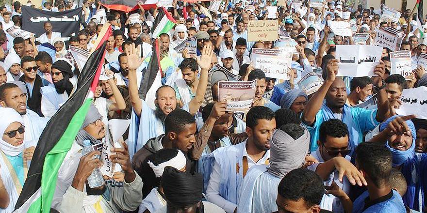Moritanya'da ABD'nin Kudüs kararı protesto edildi