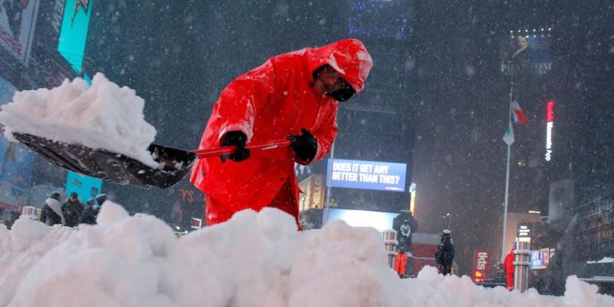 ABD kar fırtınası altında