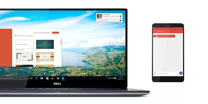Dell'den cep telefonu ekranını bilgisayara taşıyan yeni teknoloji
