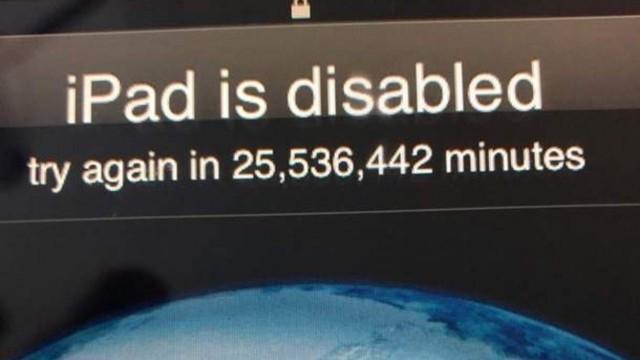 3 yaşındaki çocuk iPad'i 2067 yılına kadar kilitledi!