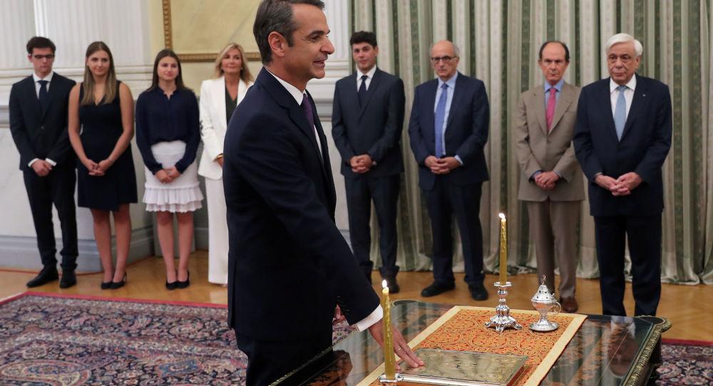 Yunanistan'ın yeni Başbakanı Miçotakis yemin etti