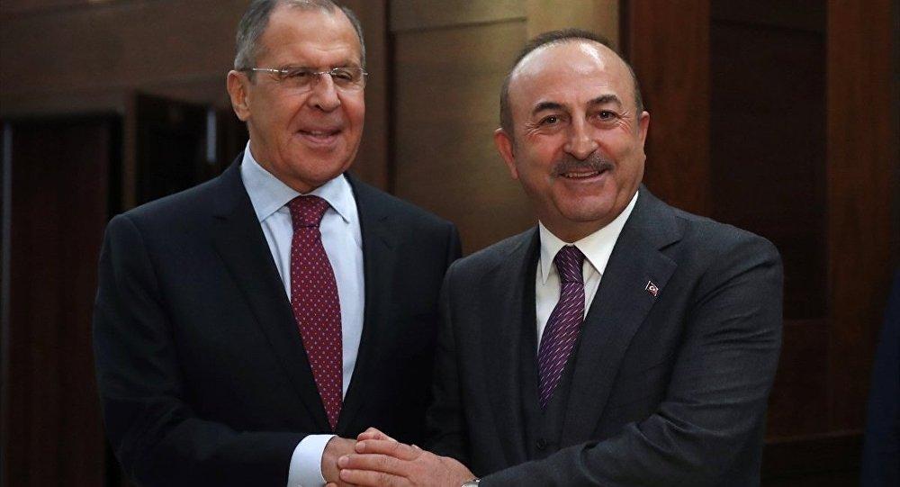 Çavuşoğlu, Lavrov ile görüştü: İdlib ve Astana süreci ele alındı