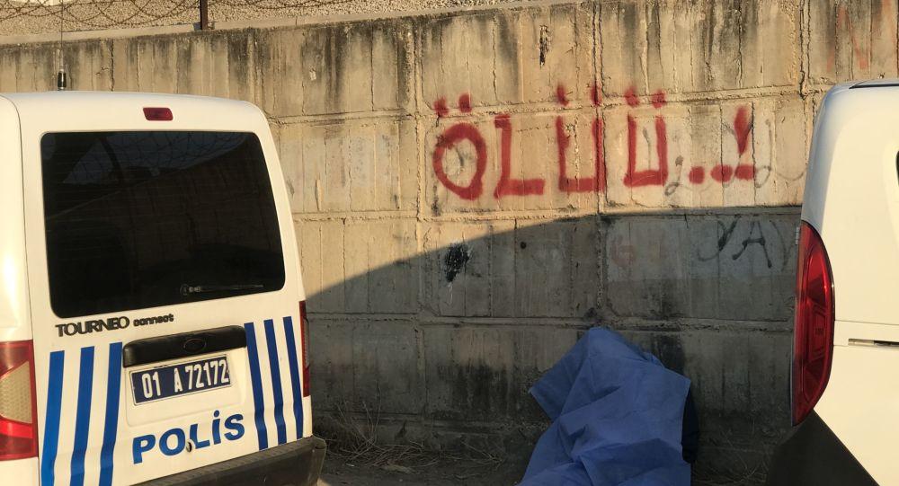 Adana'da yol kenarında ceset bulundu: Duvardaki 'ölüü' yazısı dikkat çekti