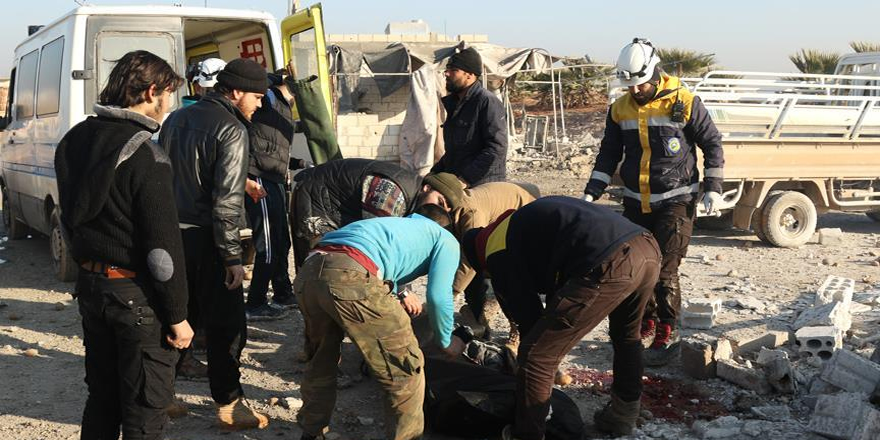 İdlib'de pazar yerine saldırı: 11 ölü