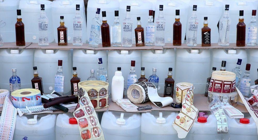 Sahte içki operasyonu: 6 tır dolusu malzeme ele geçirildi