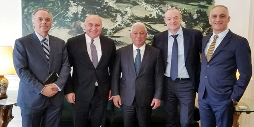 Yüksel Yıldırım, Portekiz Başbakanı Antonio Costa'yı makamında ziyaret etti
