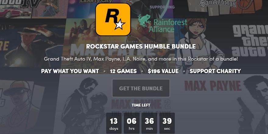 Humble Bundle 1 dolara GTA ve bir sürü oyun veriyor!