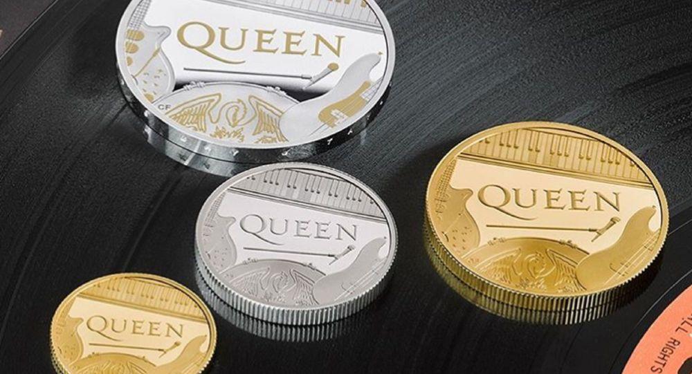 İngiliz rock grubu Queen'e özel madeni hatıra para basıldı