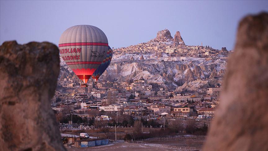 Kapadokya'yı 2020'nin ilk ayında 159 bin turist ziyaret etti