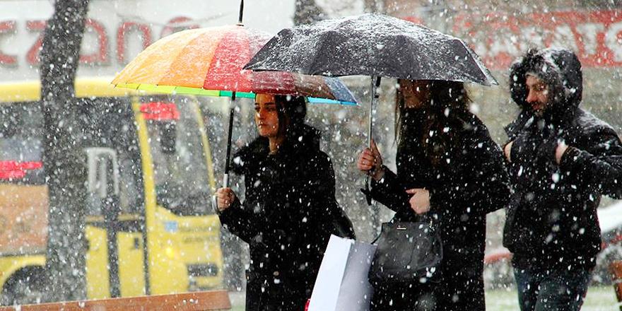 Marmara Bölgesi'nde karla karışık yağmur bekleniyor