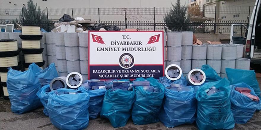 Diyarbakır'da 91 bin 990 paket kaçak sigara ele geçirildi