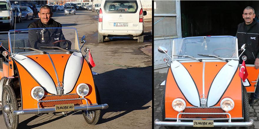 1500 lira maliyetle 2 kişilik otomobil yaptı
