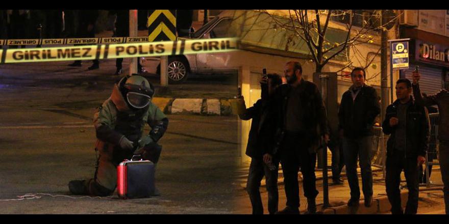 Polis fünyeyle patlattı vatandaş cep telefonuyla çekti